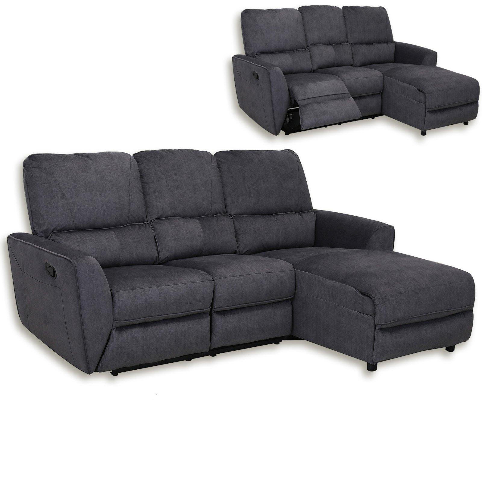 ecksofa grau microfaser relaxfunktion ecksofas l form sofas couches m bel roller. Black Bedroom Furniture Sets. Home Design Ideas