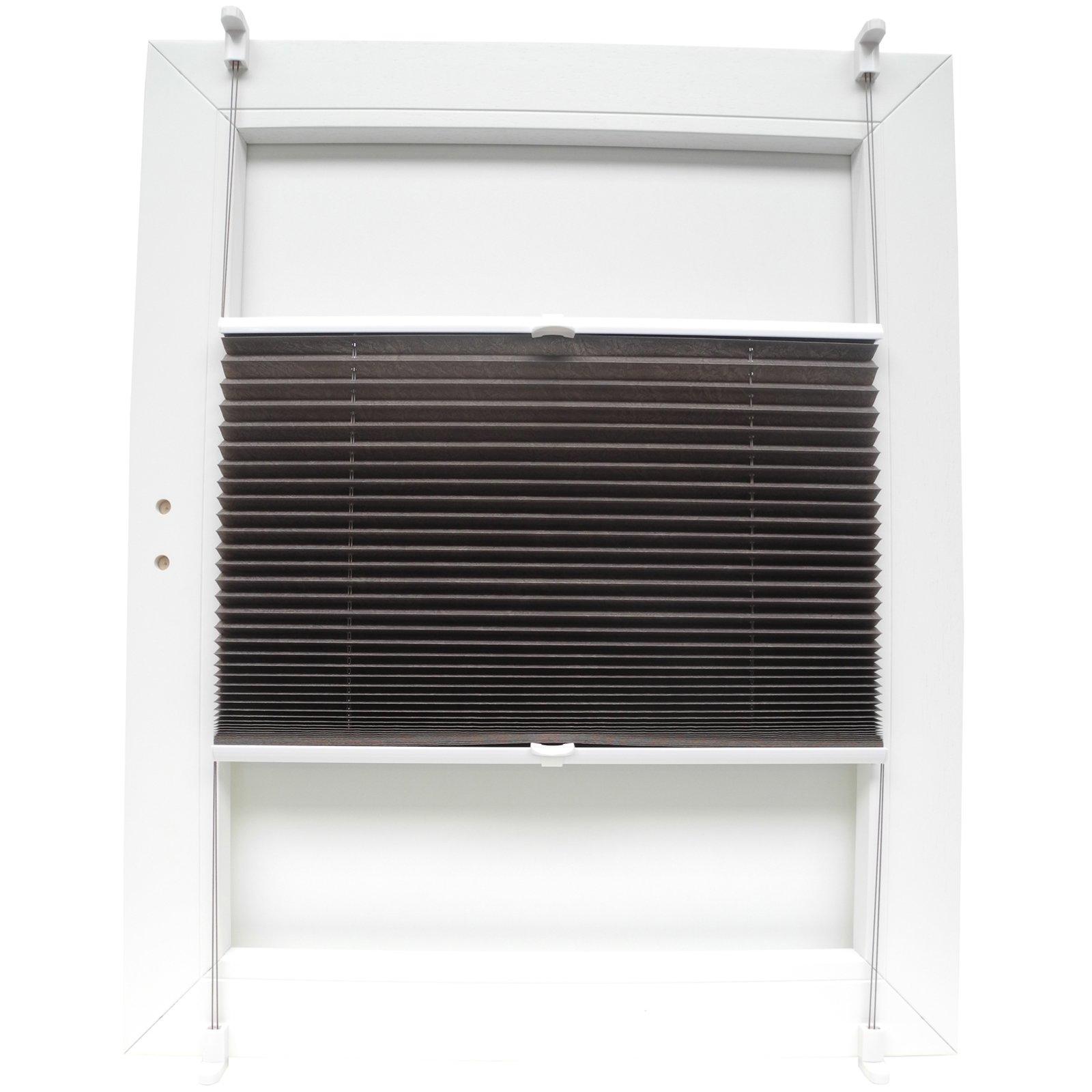 plissee sahara taupe 50x130 cm plissees rollos jalousien deko haushalt roller. Black Bedroom Furniture Sets. Home Design Ideas