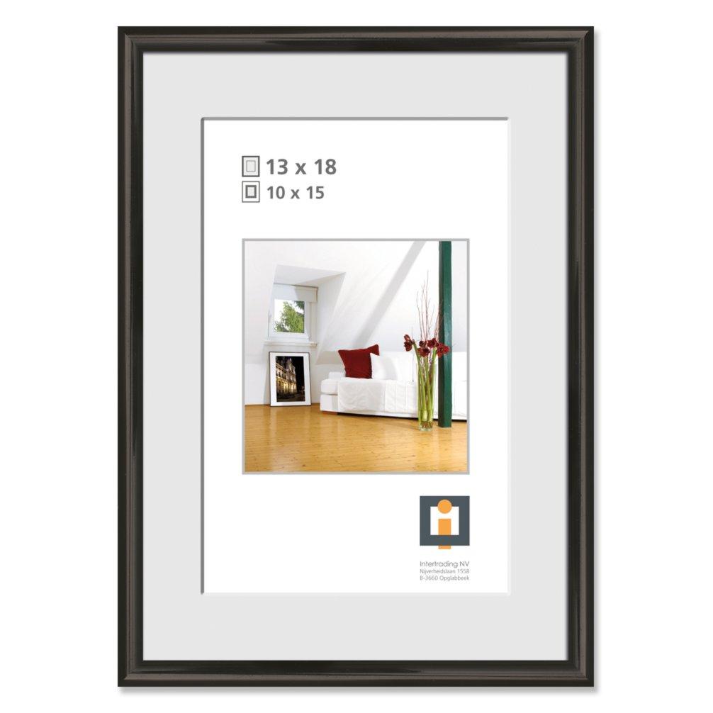 bilderrahmen schwarz kunststoff 13x18 cm bilderrahmen deko artikel deko haushalt. Black Bedroom Furniture Sets. Home Design Ideas