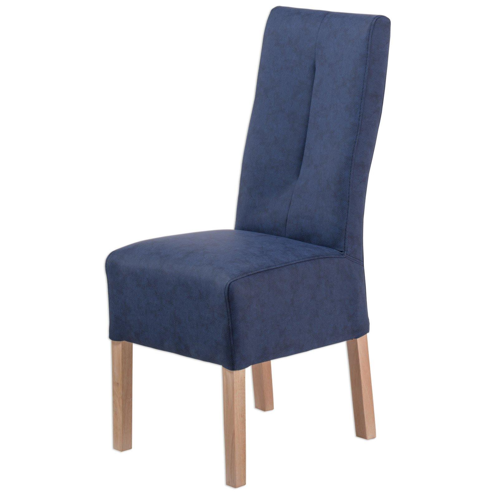 polsterstuhl fabius nachtblau eiche massivholz. Black Bedroom Furniture Sets. Home Design Ideas