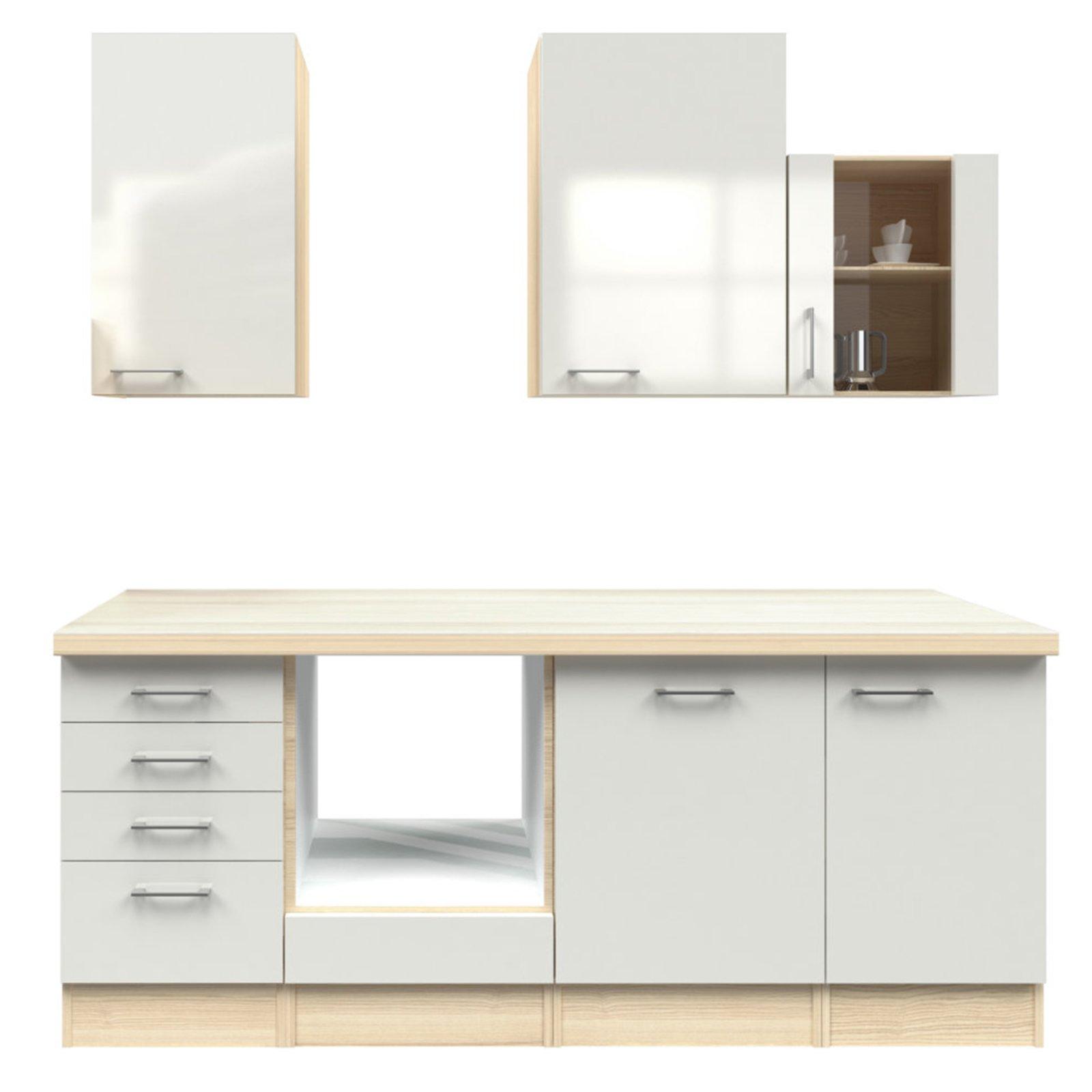 k chenblock abaco perlmutt akazie 220 cm k chenzeilen ohne e ger te k chenzeilen m bel. Black Bedroom Furniture Sets. Home Design Ideas