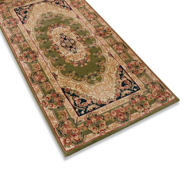 teppich delhi gr n 200x290 cm orient teppiche teppiche l ufer deko haushalt. Black Bedroom Furniture Sets. Home Design Ideas