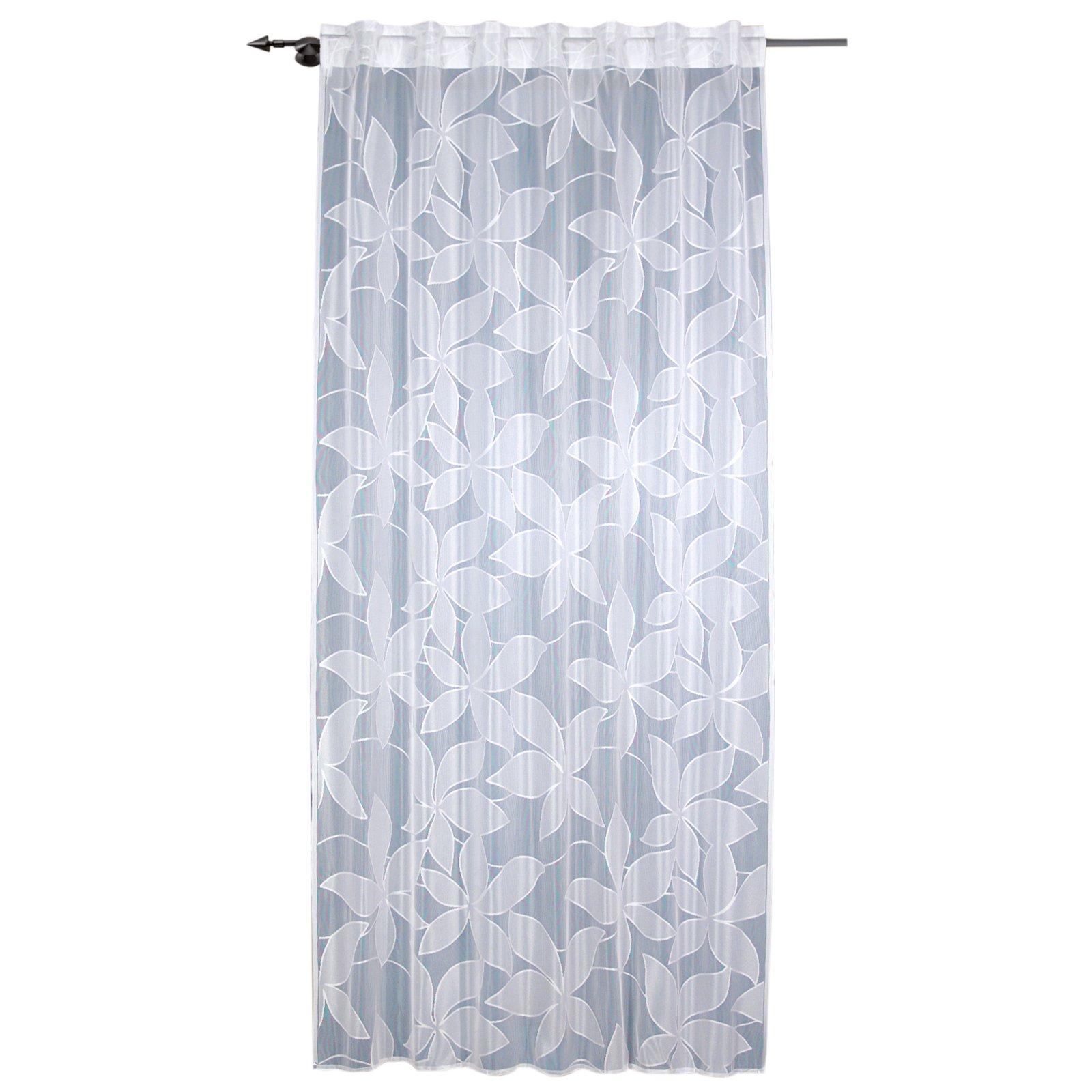 schlaufenschal wei verdeckte schlaufe 140x235 cm transparente gardinen gardinen. Black Bedroom Furniture Sets. Home Design Ideas