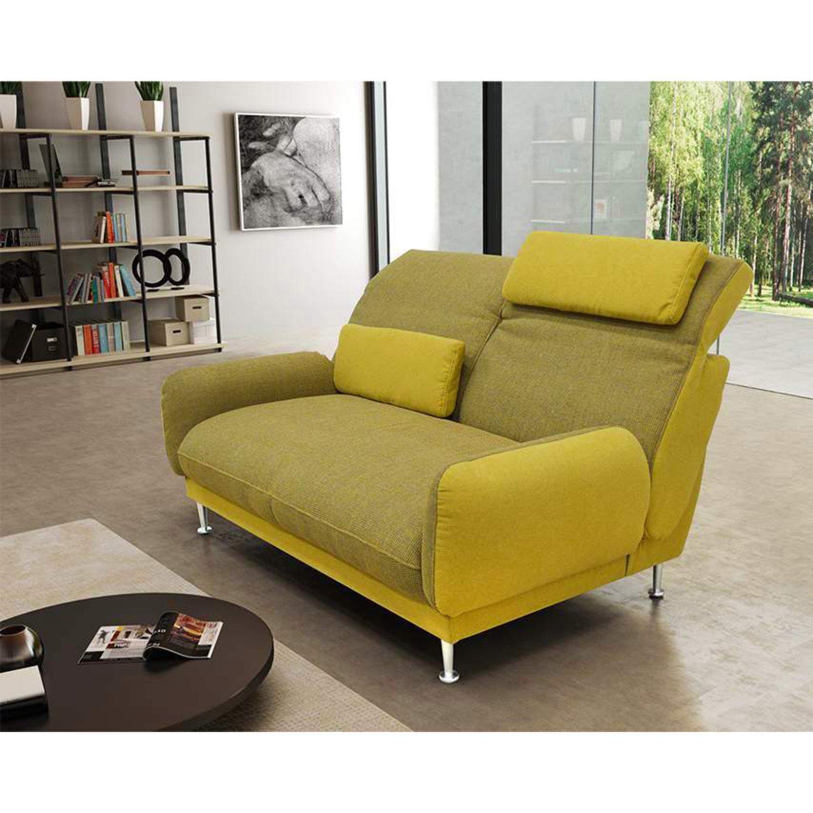 Schön Sofa Grün Dekoration Von 2-sitzer - Grün-gelb - Mit Armlehnen