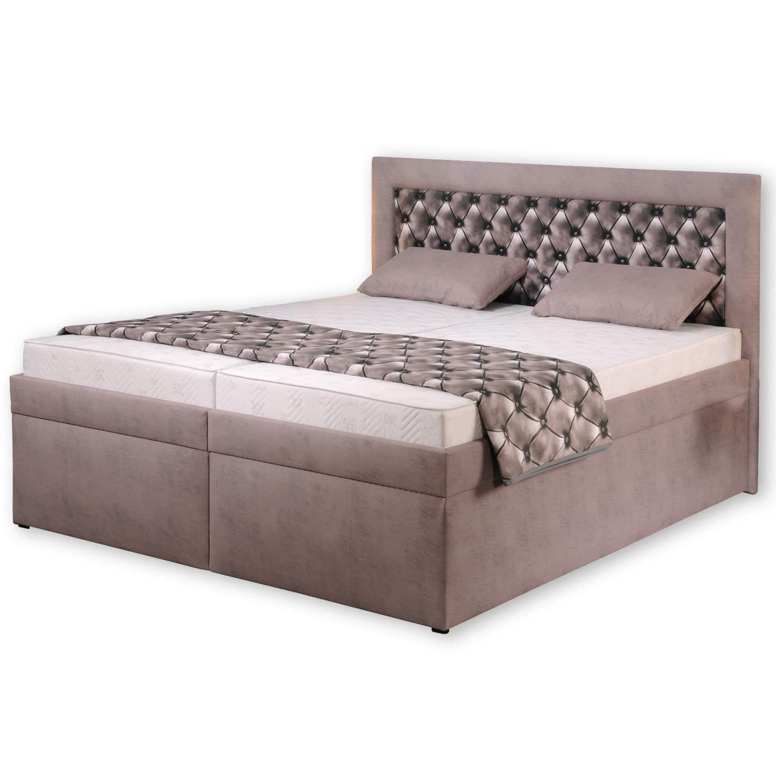 polsterbett roma hellbraun taupe 180x200 cm h2 polsterbetten betten m bel roller. Black Bedroom Furniture Sets. Home Design Ideas
