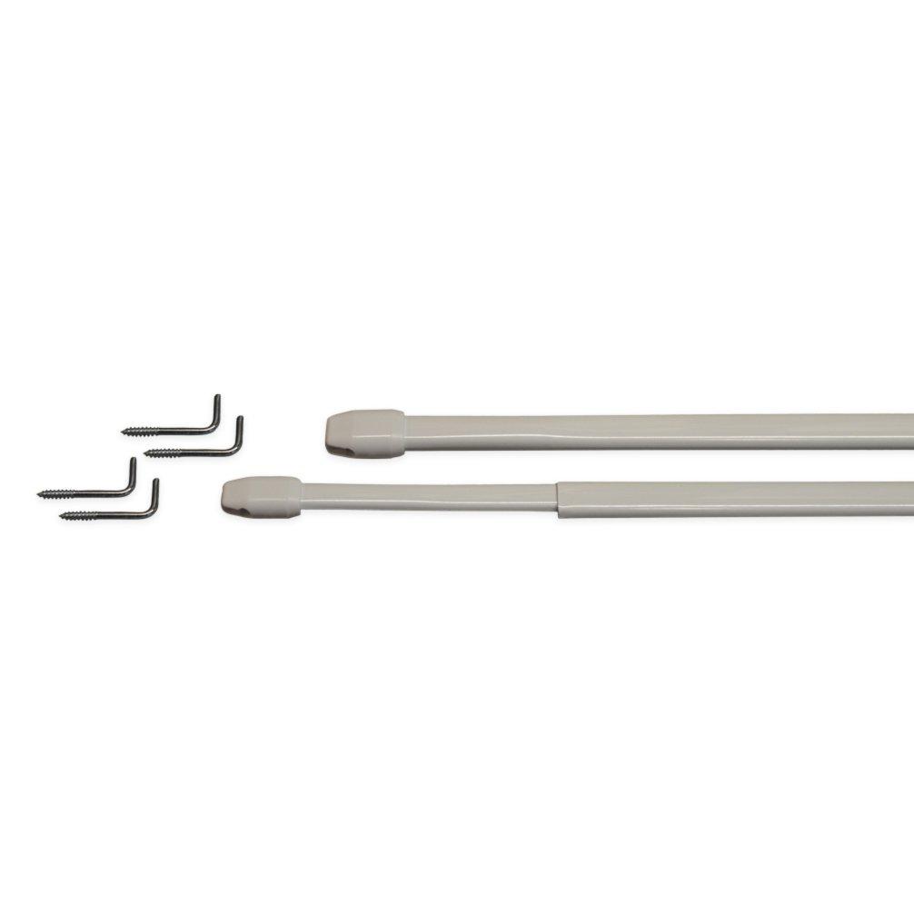 Scheibengardinenstangen - weiß - 2 Stück - 80-145 cm