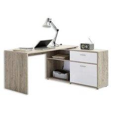 Winkel Schreibtisch Mit Regal   Sandeiche   Weiß