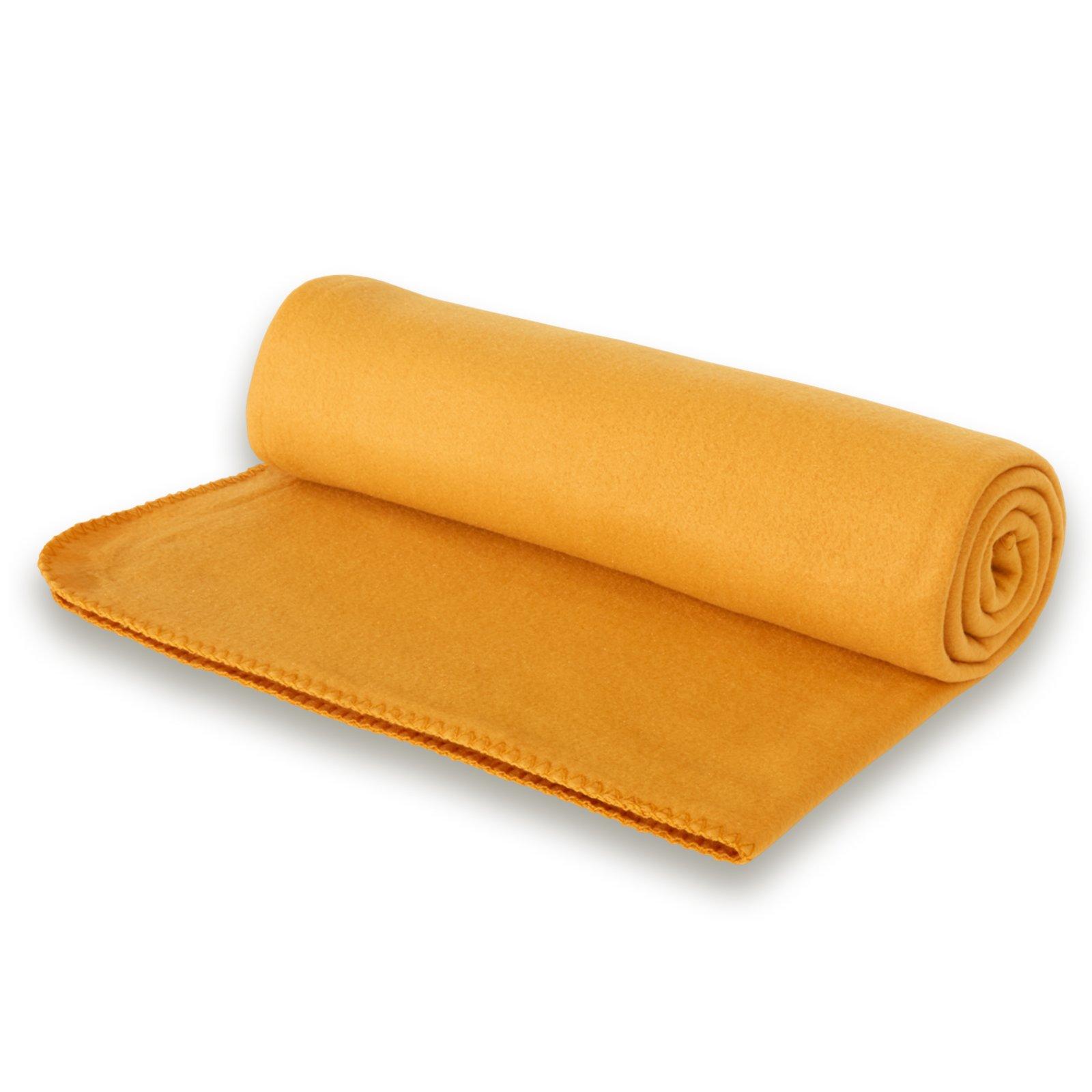 Fleecedecke - orange - 140x190 cm