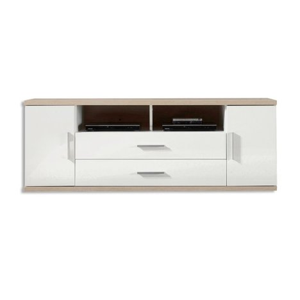 tv lowboard arena sonoma eiche wei breite 150 cm tv lowboards tv b nke tv hifi m bel. Black Bedroom Furniture Sets. Home Design Ideas