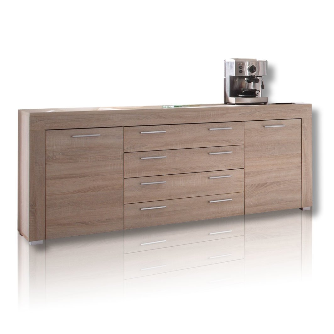 sideboard boom eiche s gerau hell kommoden sideboards m bel roller m belhaus. Black Bedroom Furniture Sets. Home Design Ideas