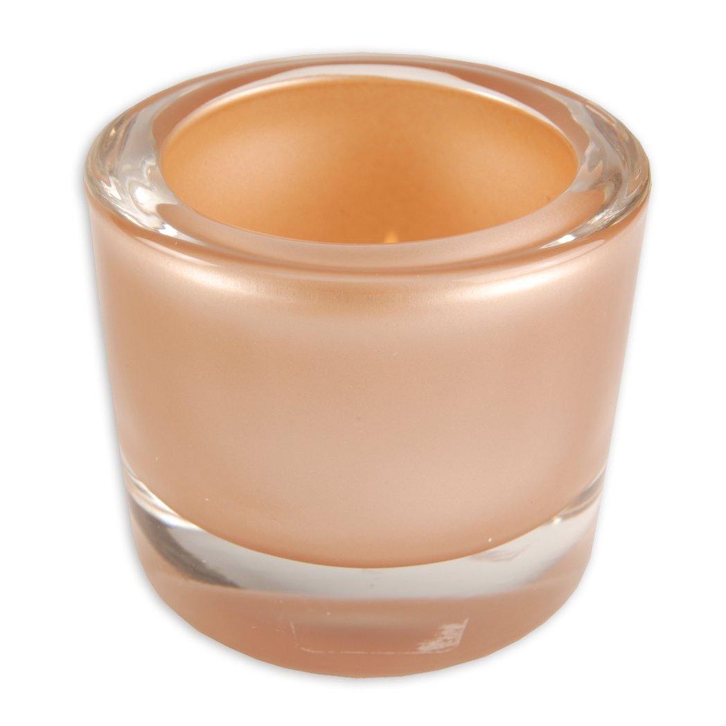 Glas-Windlicht - bronze - Ø 6,5 - 5,7 cm hoch
