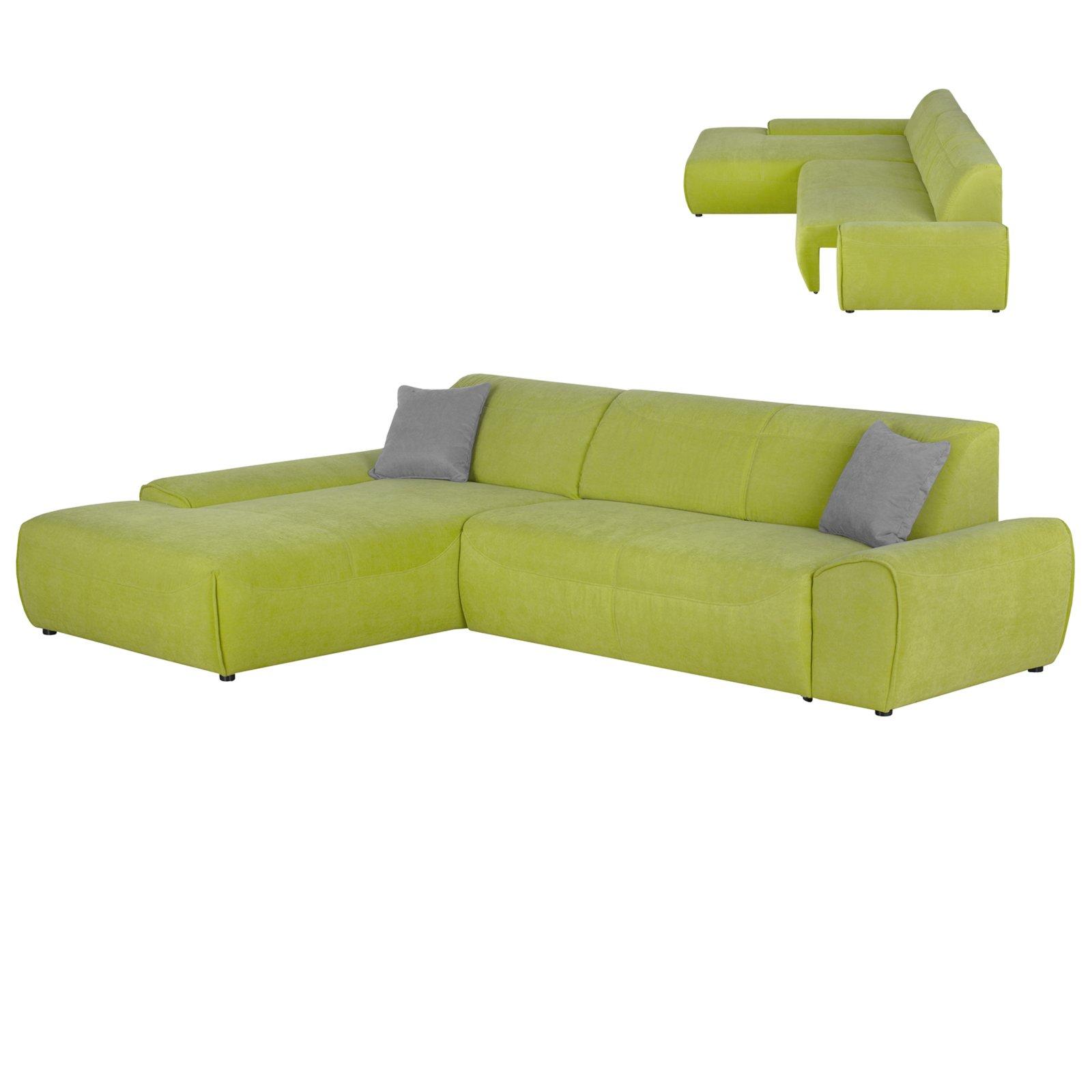 ecksofa gr n sitzauszug rechts ecksofas l form sofas couches m bel roller. Black Bedroom Furniture Sets. Home Design Ideas