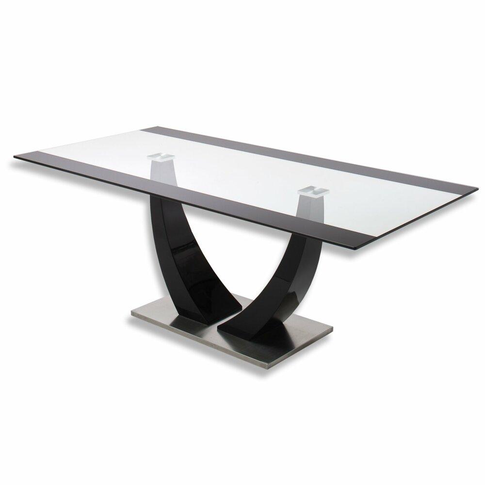 tisch tavolo sicherheitsglas schwarzangebot bei roller. Black Bedroom Furniture Sets. Home Design Ideas