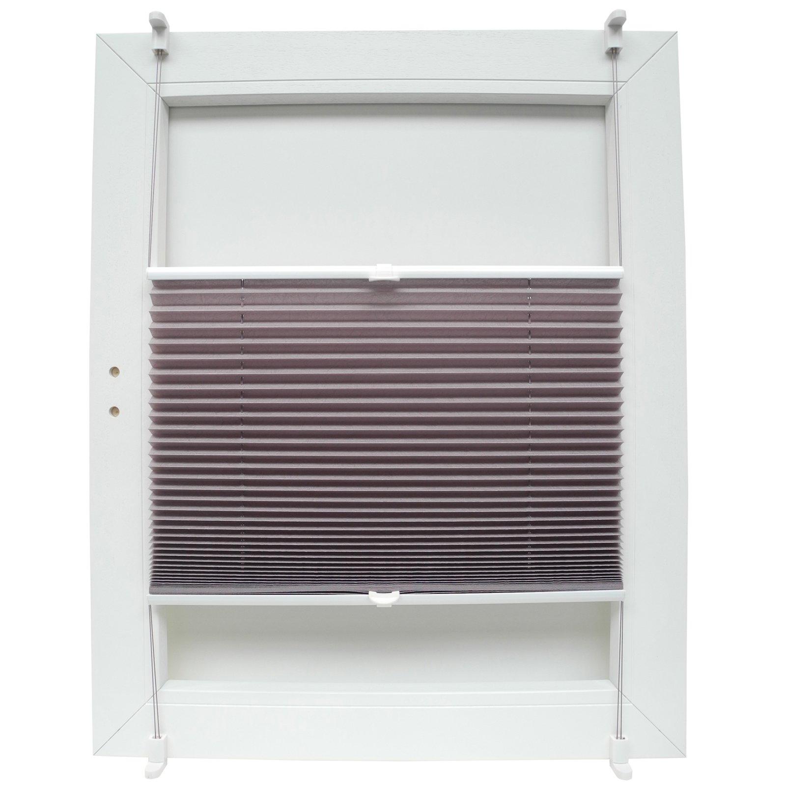 plissee sahara mauve 70x130 cm plissees rollos jalousien deko haushalt roller. Black Bedroom Furniture Sets. Home Design Ideas