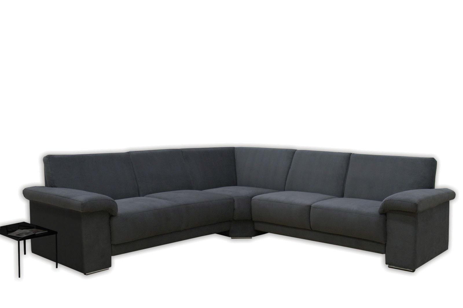 polsterecke dunkelgrau microfaser federkern ecksofas l form sofas couches m bel. Black Bedroom Furniture Sets. Home Design Ideas