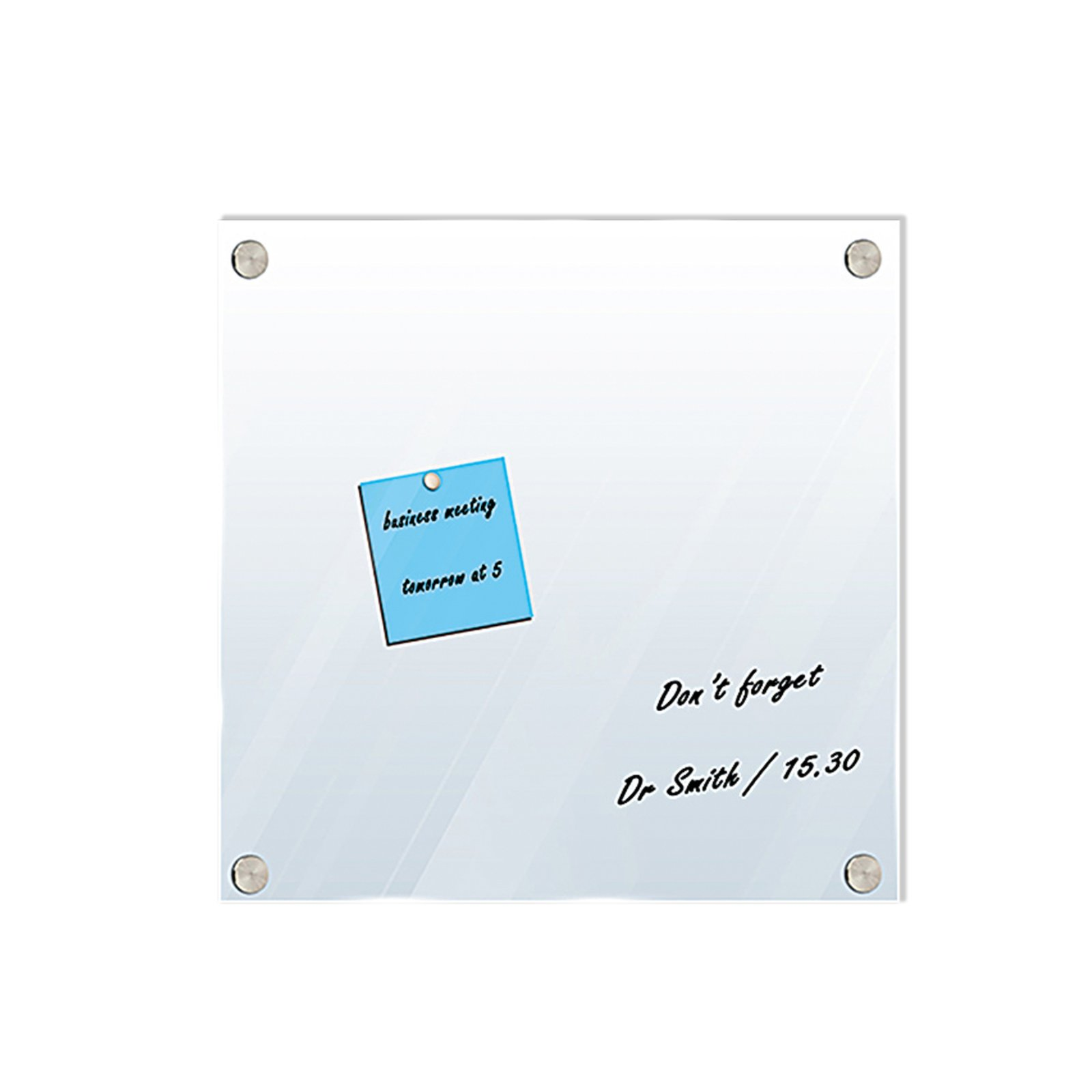 magnettafel grau wei glas beschreibbar 40x40 cm pinnw nde tafeln deko artikel. Black Bedroom Furniture Sets. Home Design Ideas