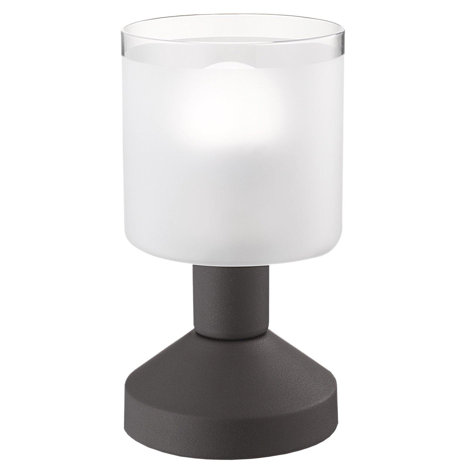 Tischlampe GRAL - Rost matt - Glas gefrostet