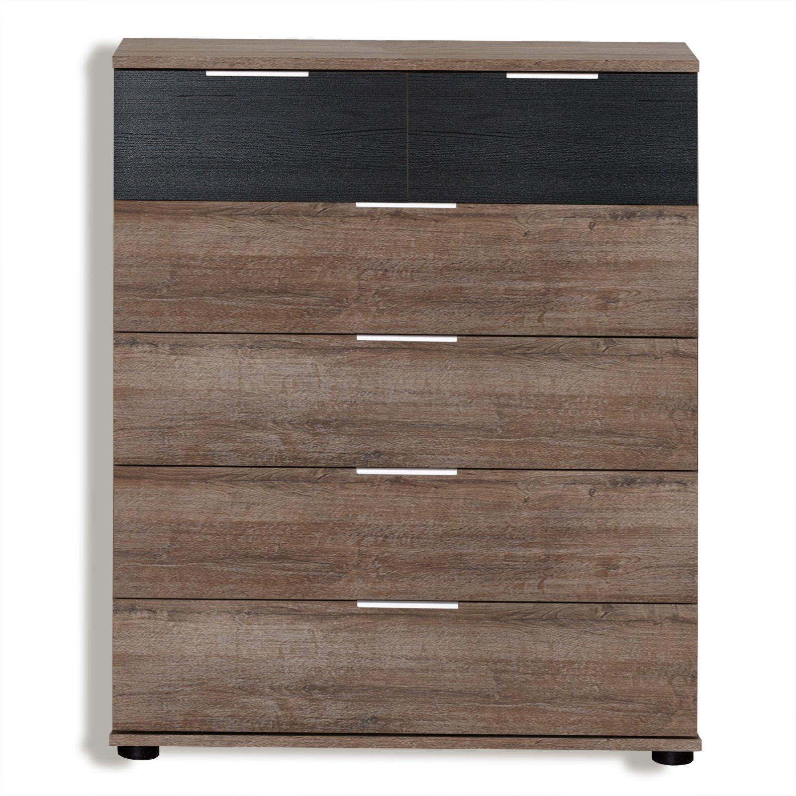 schubkasten kommode virgo schwarzeiche schlammeiche 81. Black Bedroom Furniture Sets. Home Design Ideas