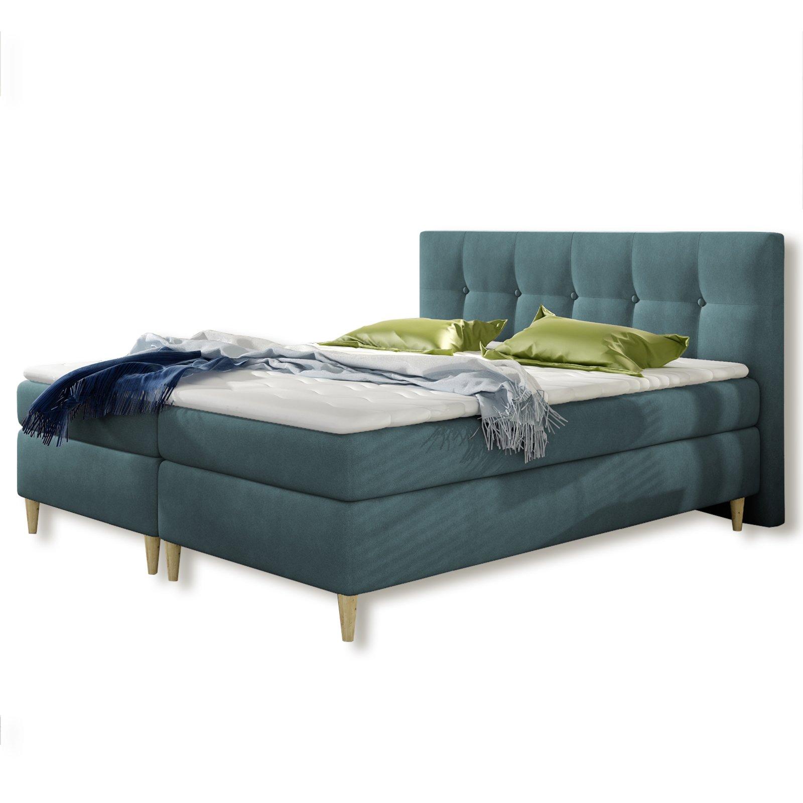 boxspringbett eden petrol h2 180x200 cm boxspringbetten betten m bel roller m belhaus. Black Bedroom Furniture Sets. Home Design Ideas