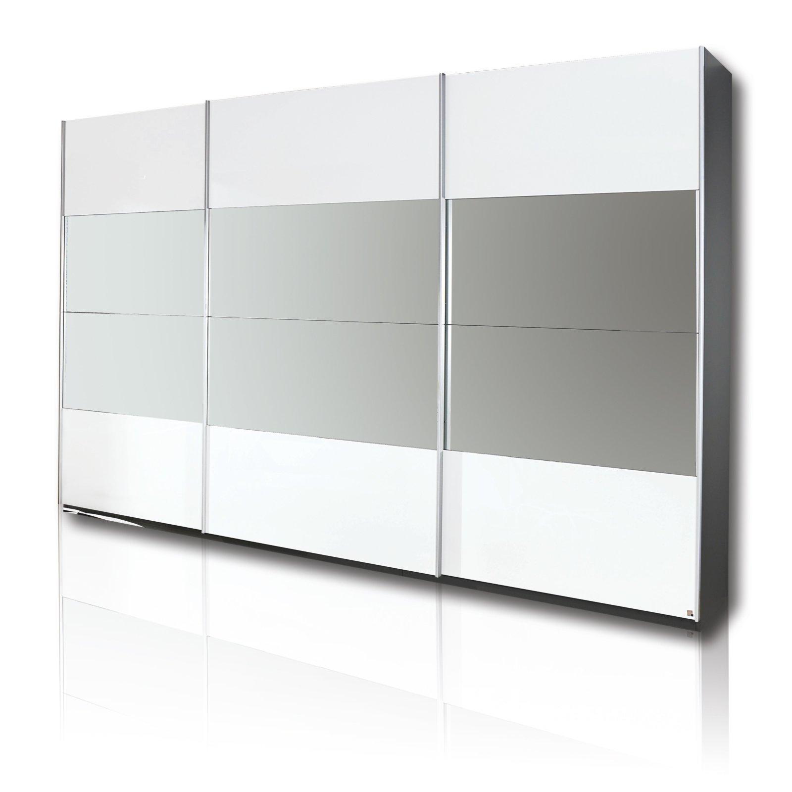 kleiderschrank schiebet ren wei. Black Bedroom Furniture Sets. Home Design Ideas