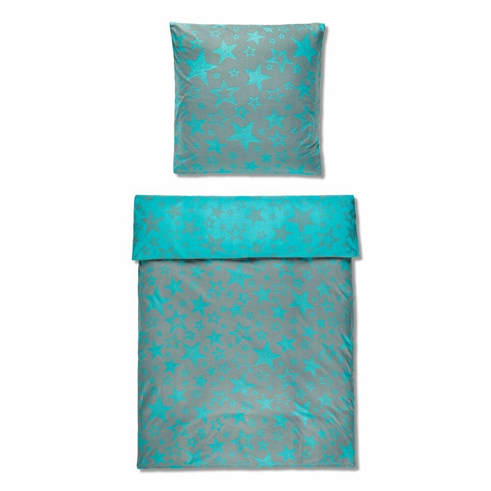 microfaser flausch bettw sche high class stella silber t rkis 135x200 cm bettw sche. Black Bedroom Furniture Sets. Home Design Ideas