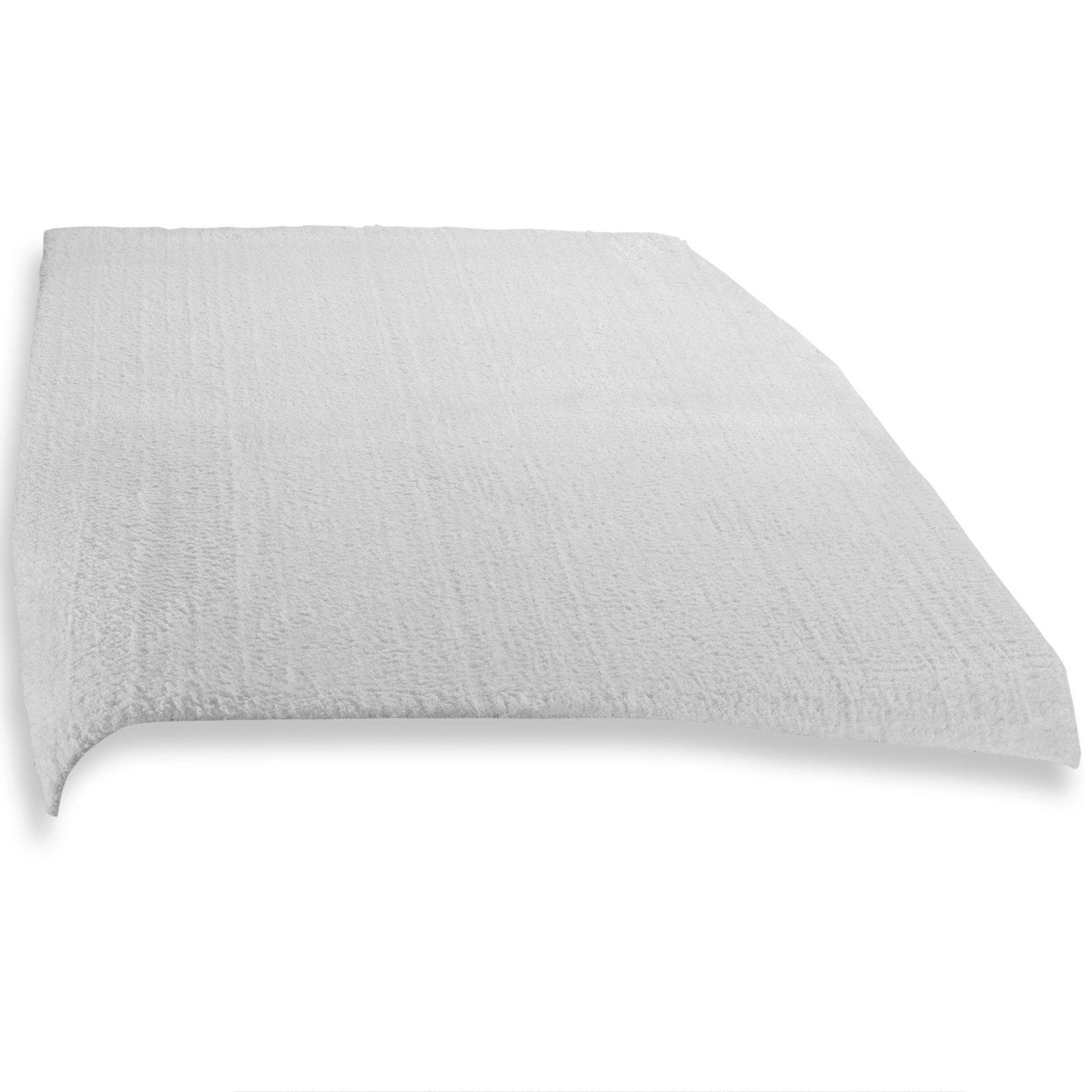 teppich tiara wei 80x150 cm einfarbige teppiche teppiche l ufer deko haushalt. Black Bedroom Furniture Sets. Home Design Ideas
