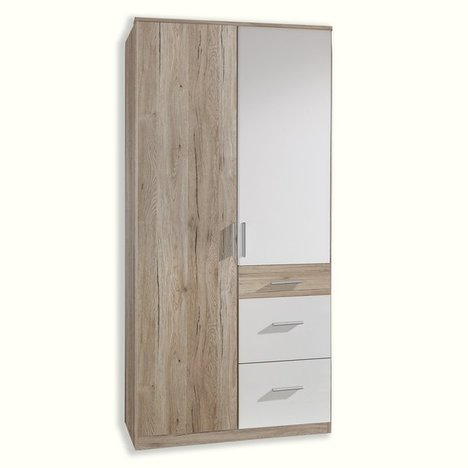 kleiderschrank joker san remo eiche 90 cm dreht renschr nke kleiderschr nke schr nke. Black Bedroom Furniture Sets. Home Design Ideas