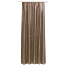 Übergardine Gardine blickdicht Kringel Muster Schlaufen Vorhang 140x245 cm edel