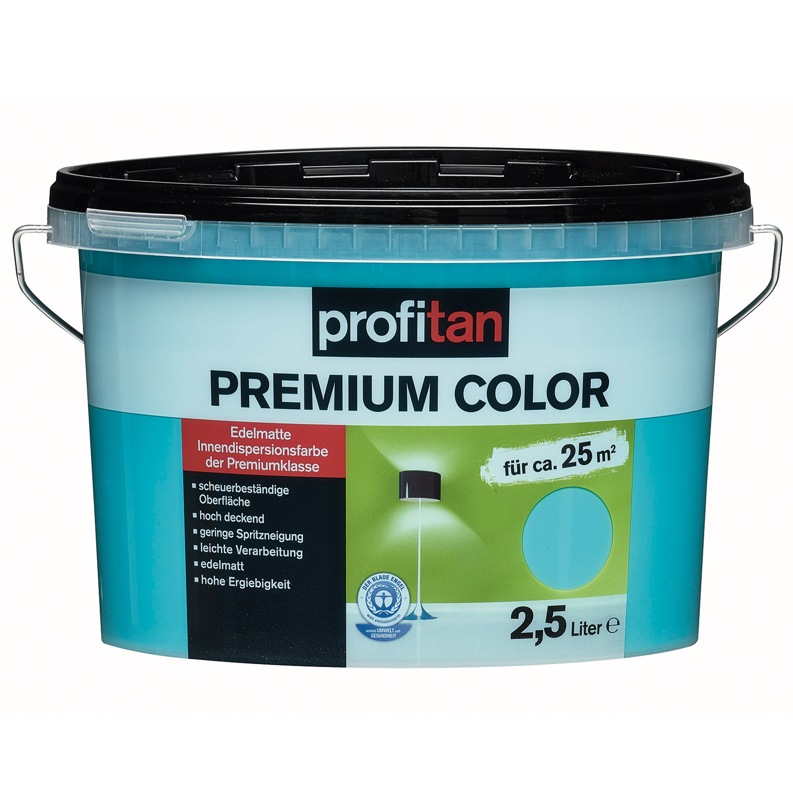 Profitan Wandfarbe Premium Color Blue Lagune Edelmatt 2 5 Liter Online Bei Roller Kaufen
