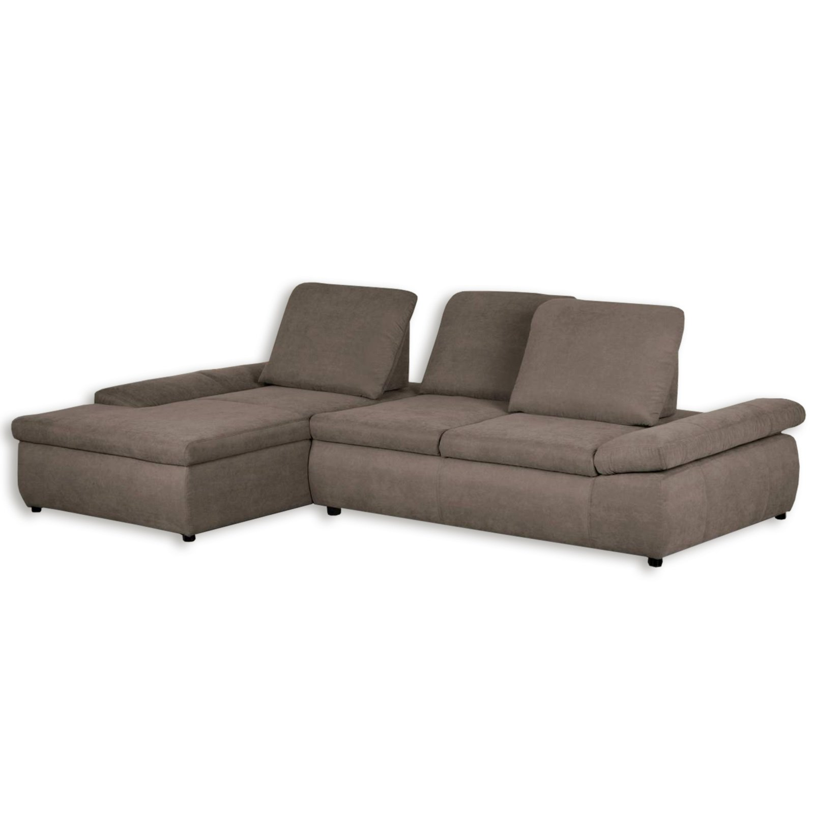 Ecksofa taupe mit funktionen recamiere links for Ecksofa 3 00 m