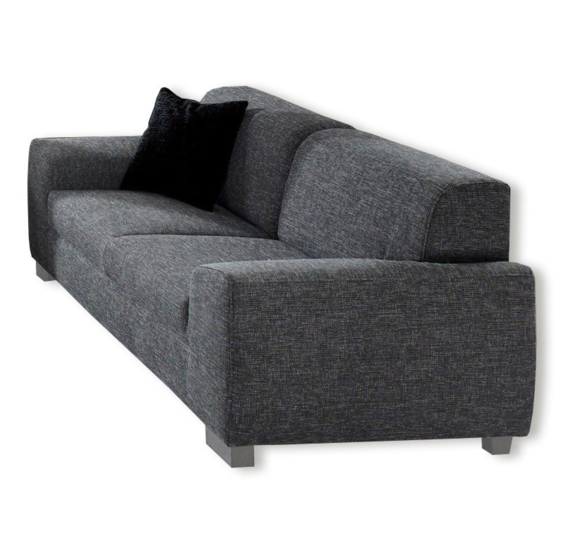 3 sitzer sofa dunkelgrau mit federkern einzelsofas 2er 3er 4er sofas couches. Black Bedroom Furniture Sets. Home Design Ideas