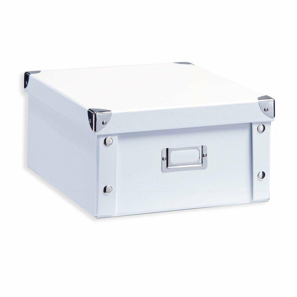 aufbewahrungsbox wei pappe gr e s dekorative. Black Bedroom Furniture Sets. Home Design Ideas
