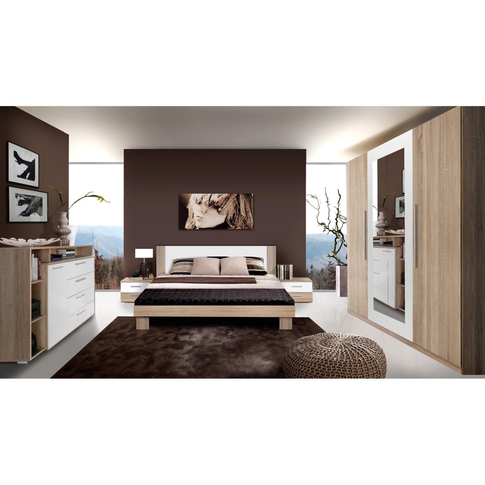 Schlafzimmer HELEN - 4-teilig - Eiche Sonoma   Schlafzimmer-Sets ...