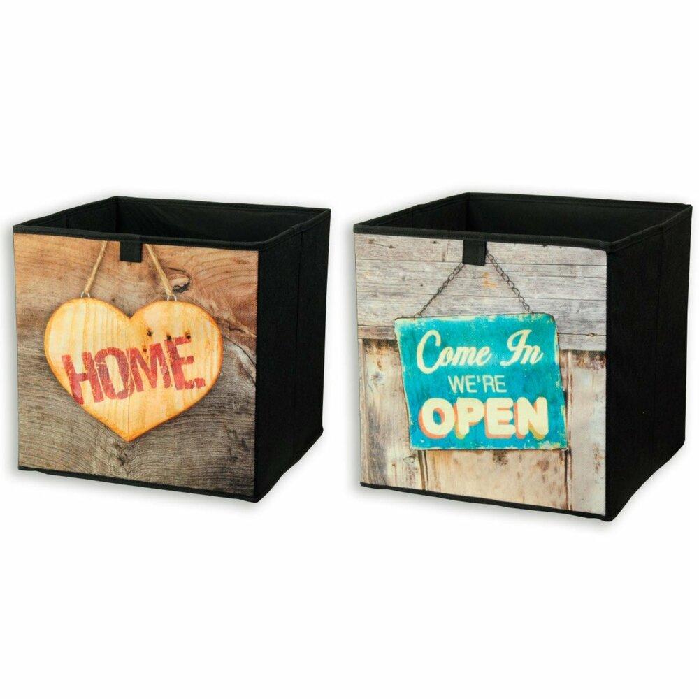 aufbewahrungsbox faltbar sortierte holzdekore faltboxen boxen k rbe deko haushalt. Black Bedroom Furniture Sets. Home Design Ideas