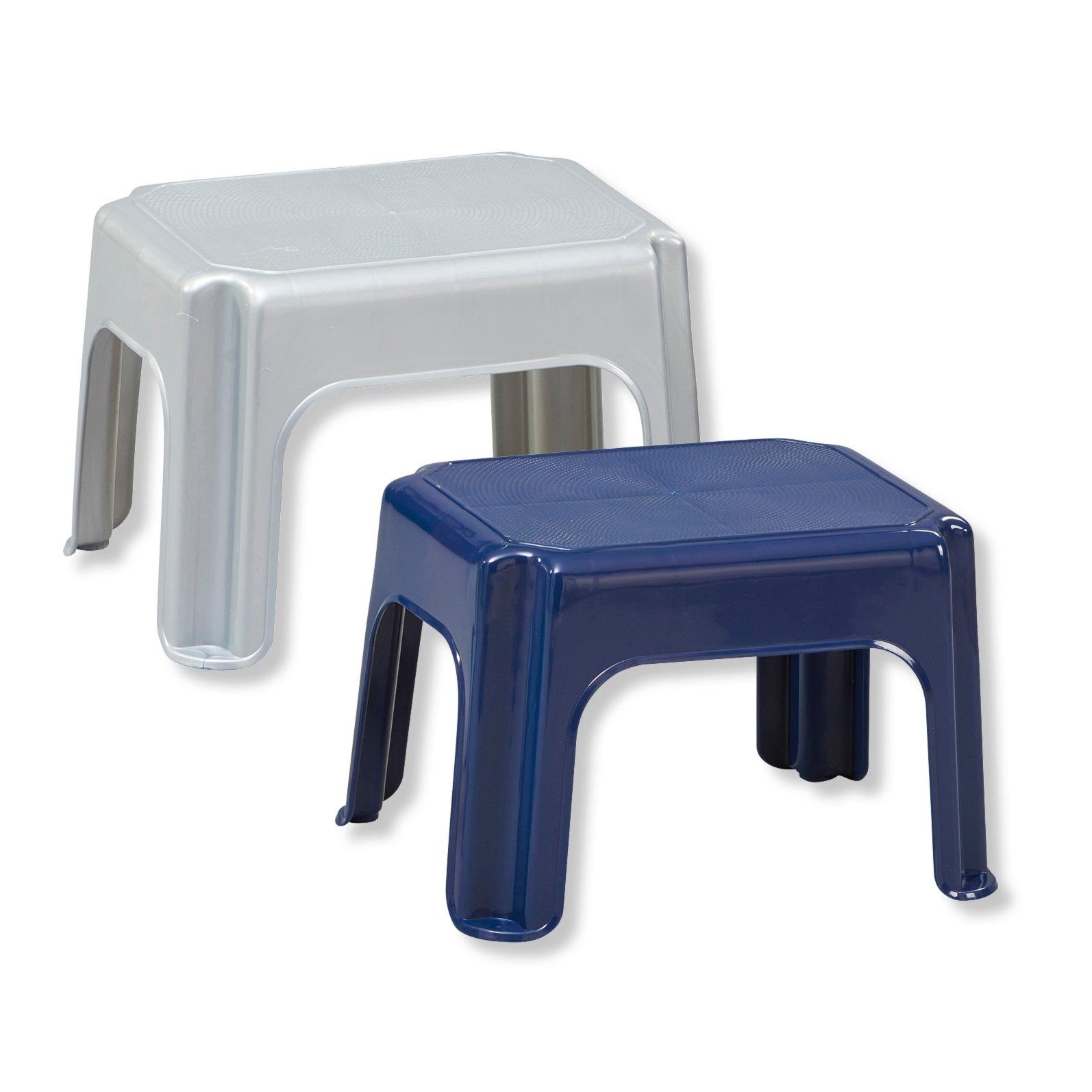 roller trittschemel fu bank in zwei farben ebay. Black Bedroom Furniture Sets. Home Design Ideas
