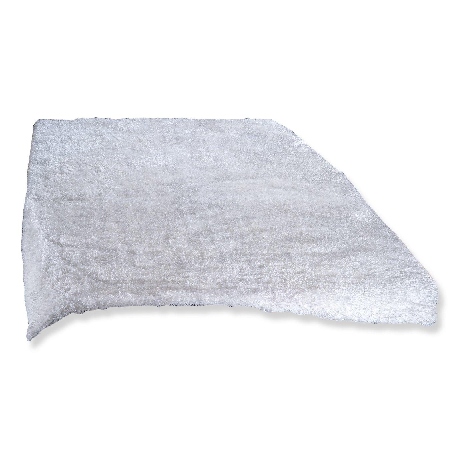 hochflor teppich marleen wei 200x290 cm hochflor shaggyteppiche teppiche l ufer. Black Bedroom Furniture Sets. Home Design Ideas