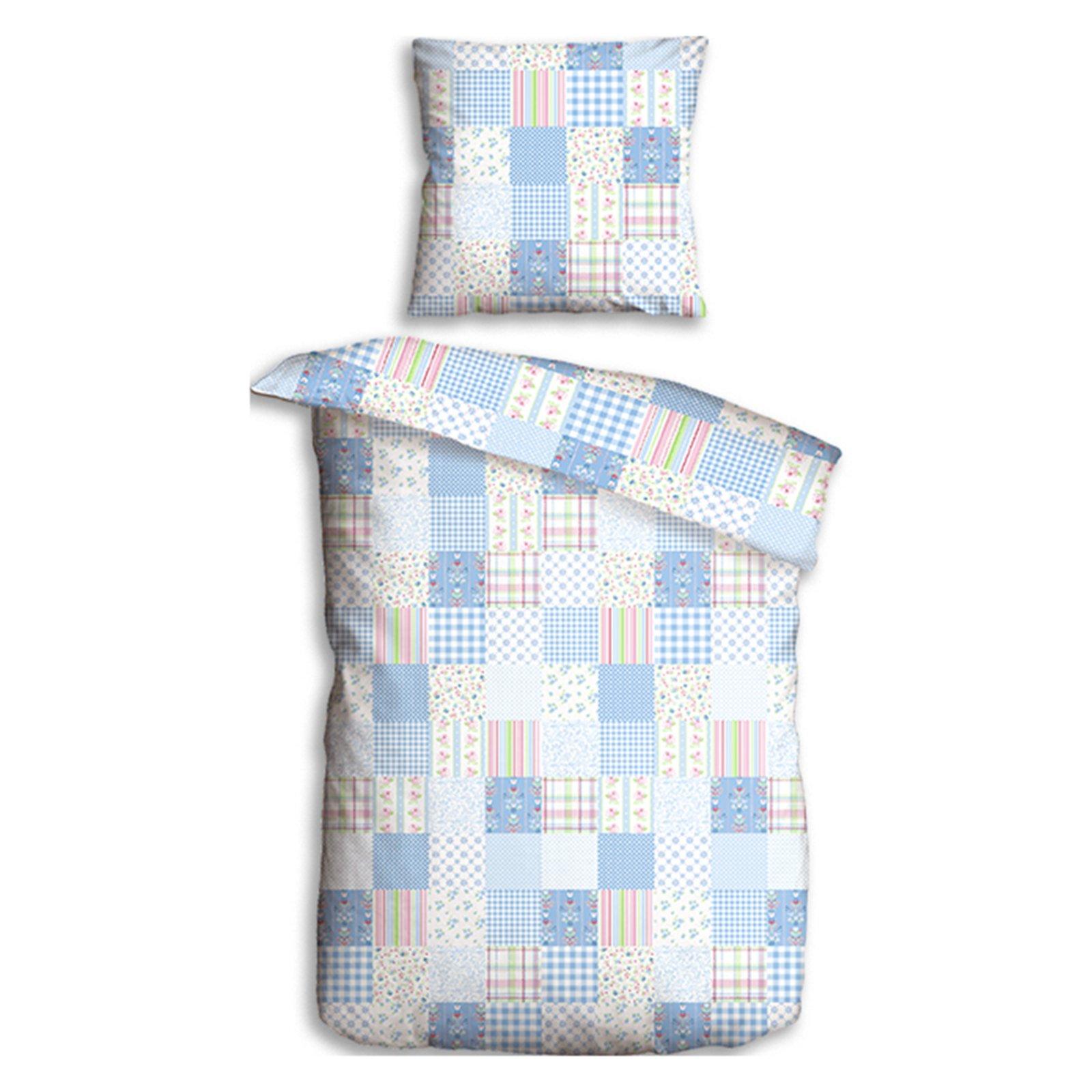 microfaser bettw sche viktoria hellblau 135x200 cm. Black Bedroom Furniture Sets. Home Design Ideas