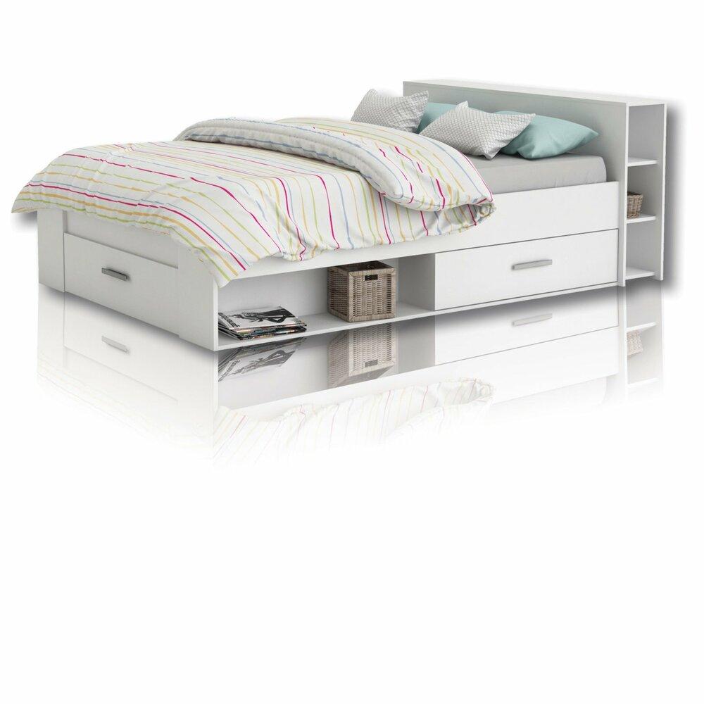 jugendbett funktionsbett pocket wei 140x200 cm. Black Bedroom Furniture Sets. Home Design Ideas