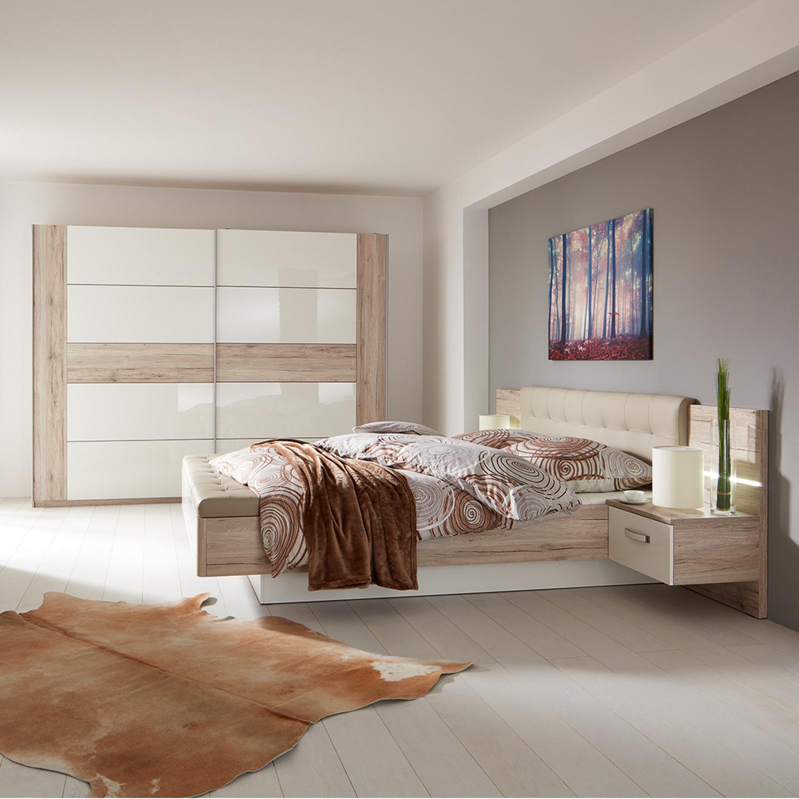 Ella@HOME 4-teiliges Schlafzimmer-Set - Sandeiche-weiß