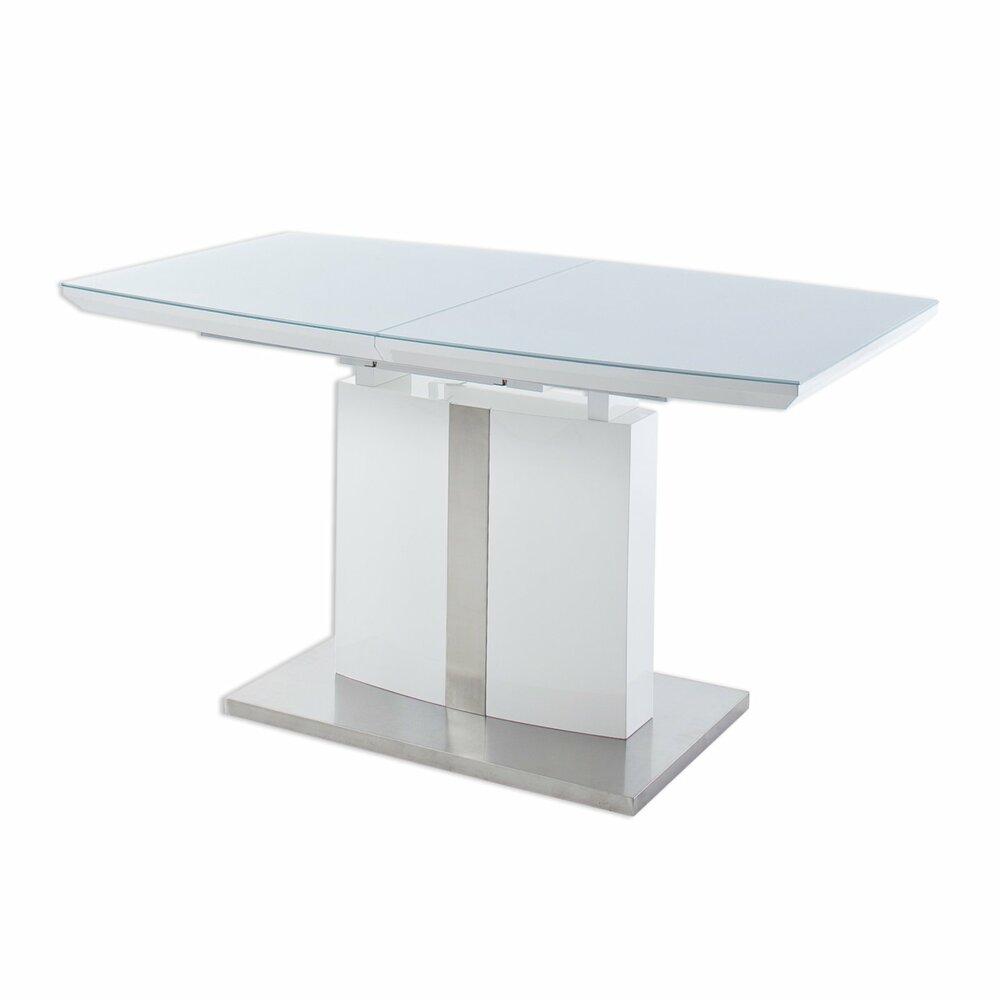 Esstisch NAJUMA - weiß - Glas - ausziehbar | Online bei ...