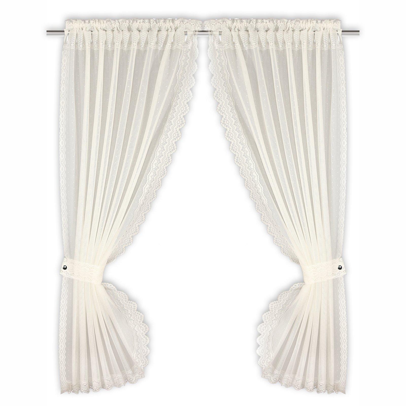 gardinen set elfenbein raffhalter 90x160 cm transparente gardinen gardinen vorh nge. Black Bedroom Furniture Sets. Home Design Ideas