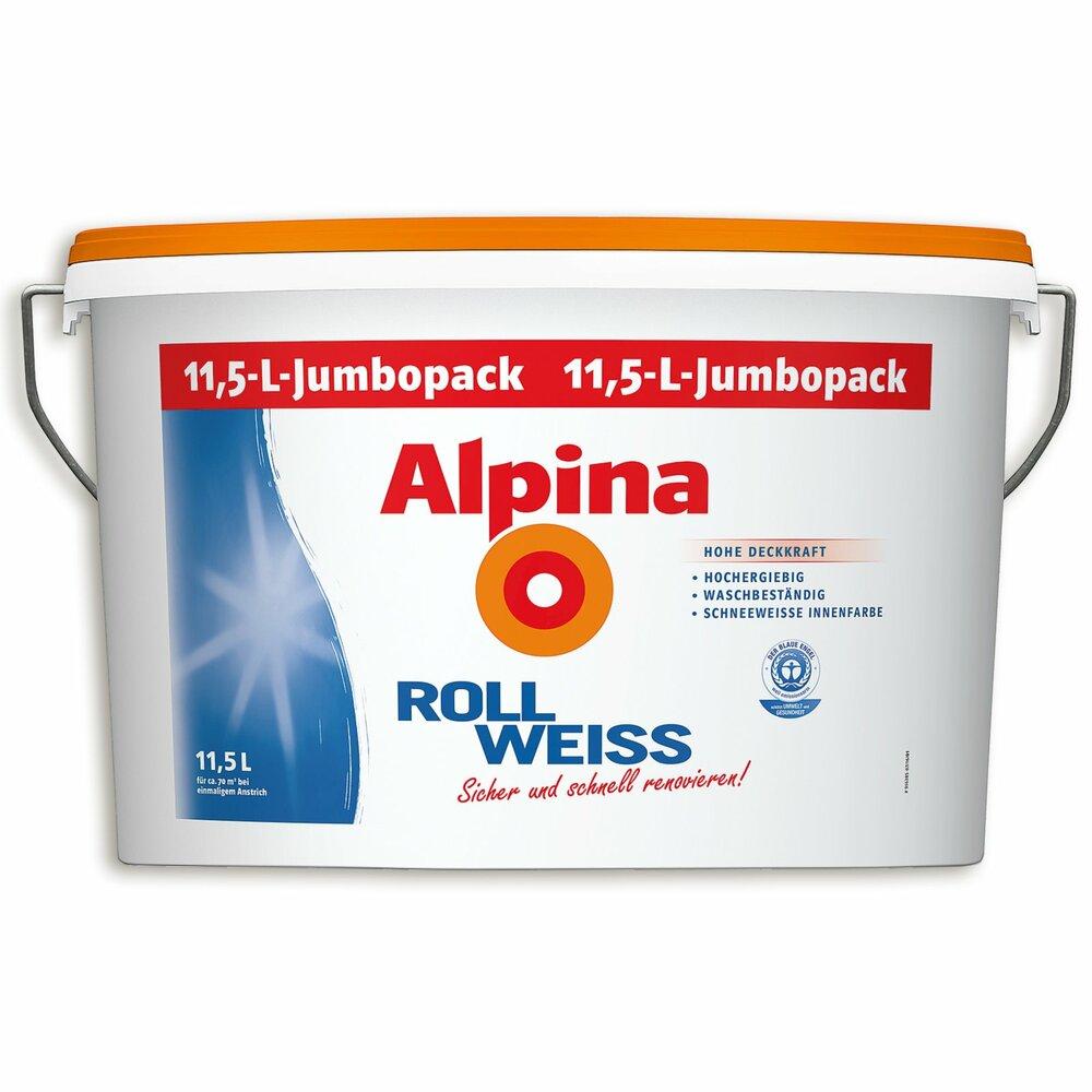 alpina roll wei innenfarbe jumbopack 11 5. Black Bedroom Furniture Sets. Home Design Ideas