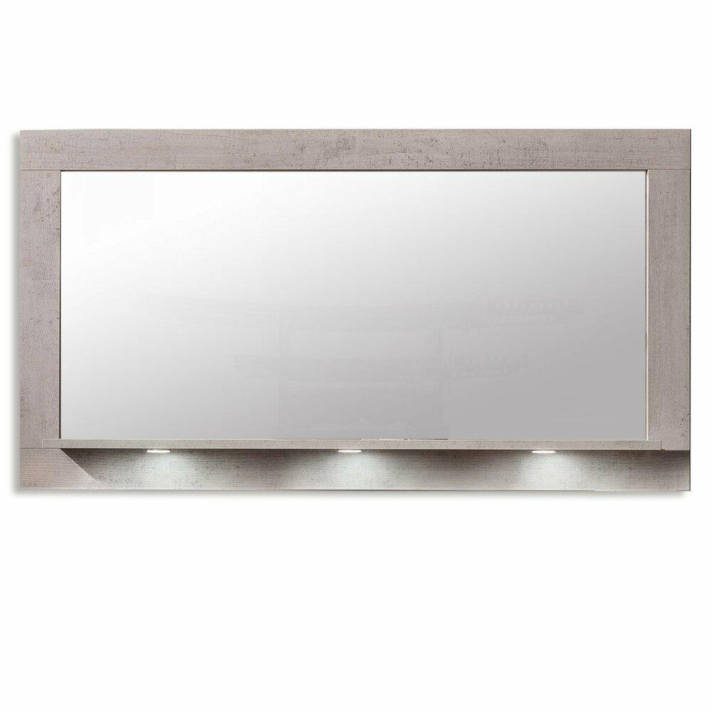 spiegel pure beton grau 160x88 cmangebot bei roller. Black Bedroom Furniture Sets. Home Design Ideas