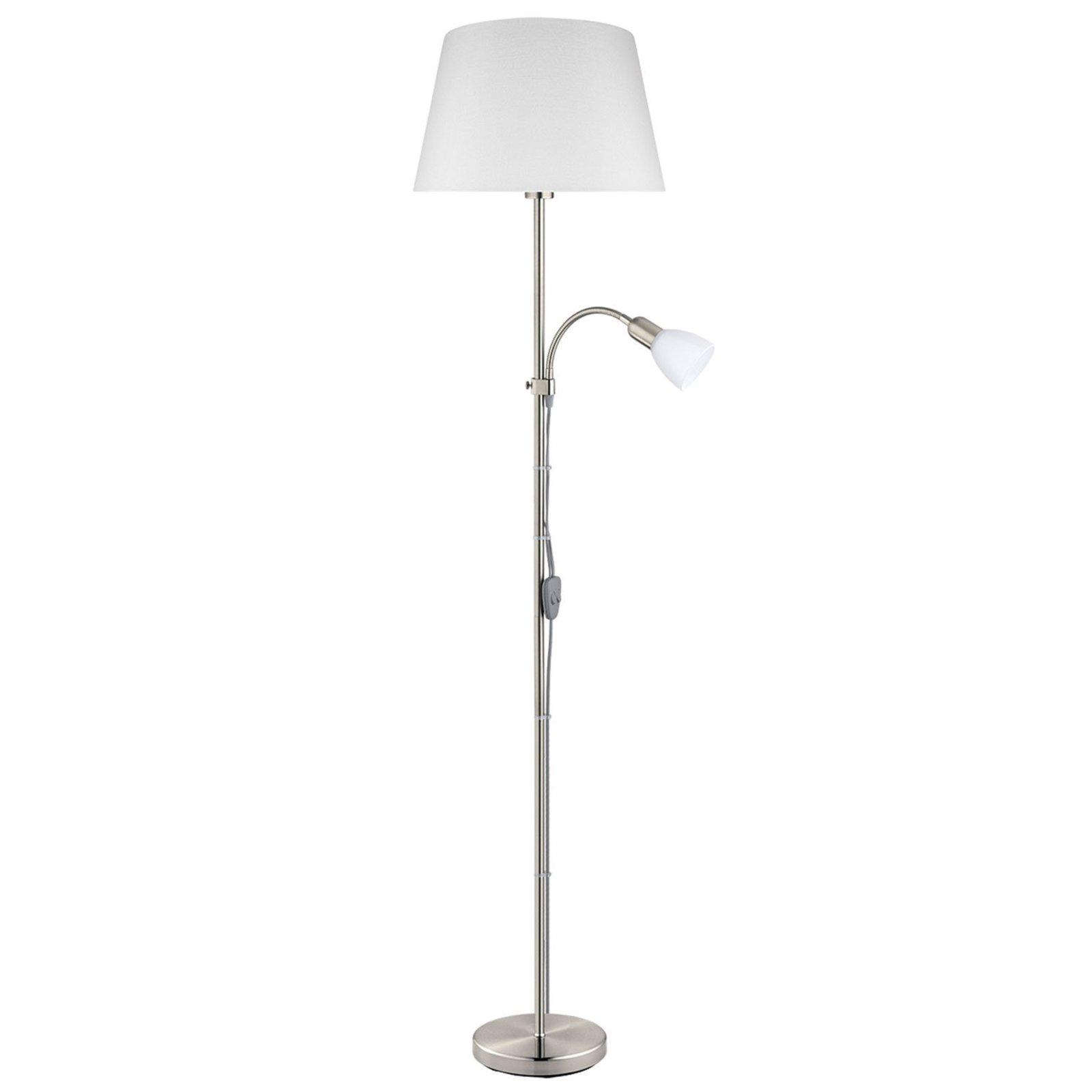 Stehleuchte CONESA - nickel-weiß - 170 cm hoch | Deckenfluter ...