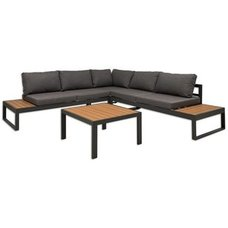 Gardiola Lounge-Set - anthrazit-teakfarben