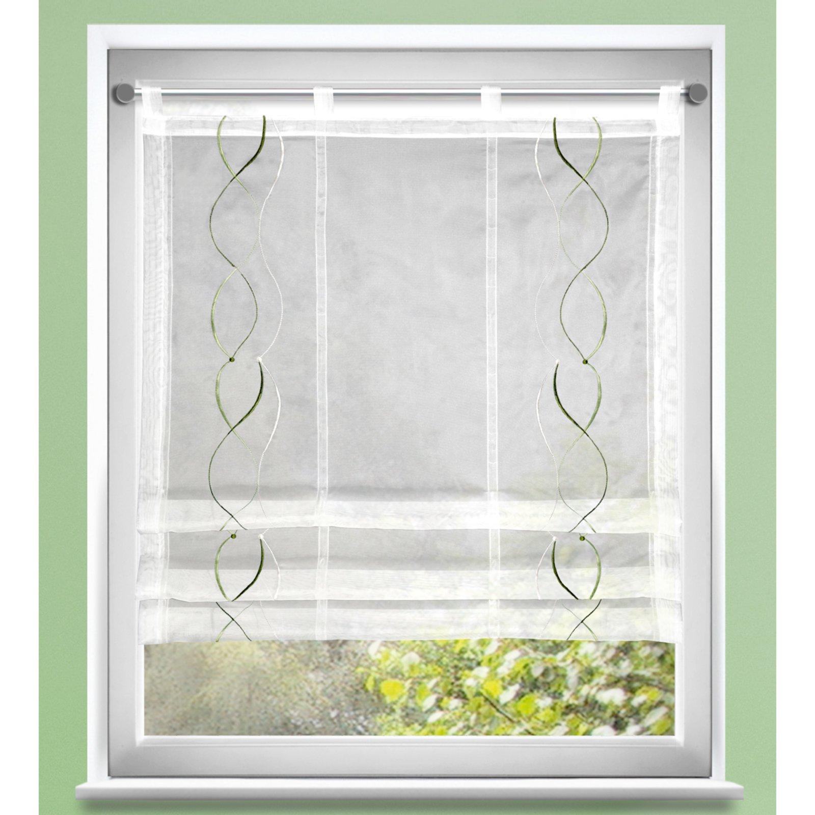 Clips-Raffrollo - weiß-grün - 80x120 cm | Online bei ROLLER kaufen