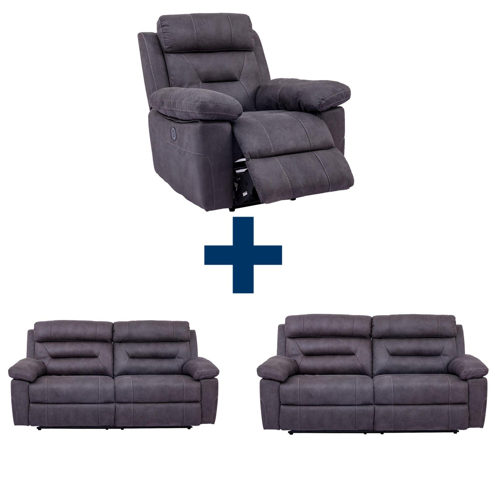 Set TARANTELLA 2 Sofas mit Sessel mit Relaxfunktion