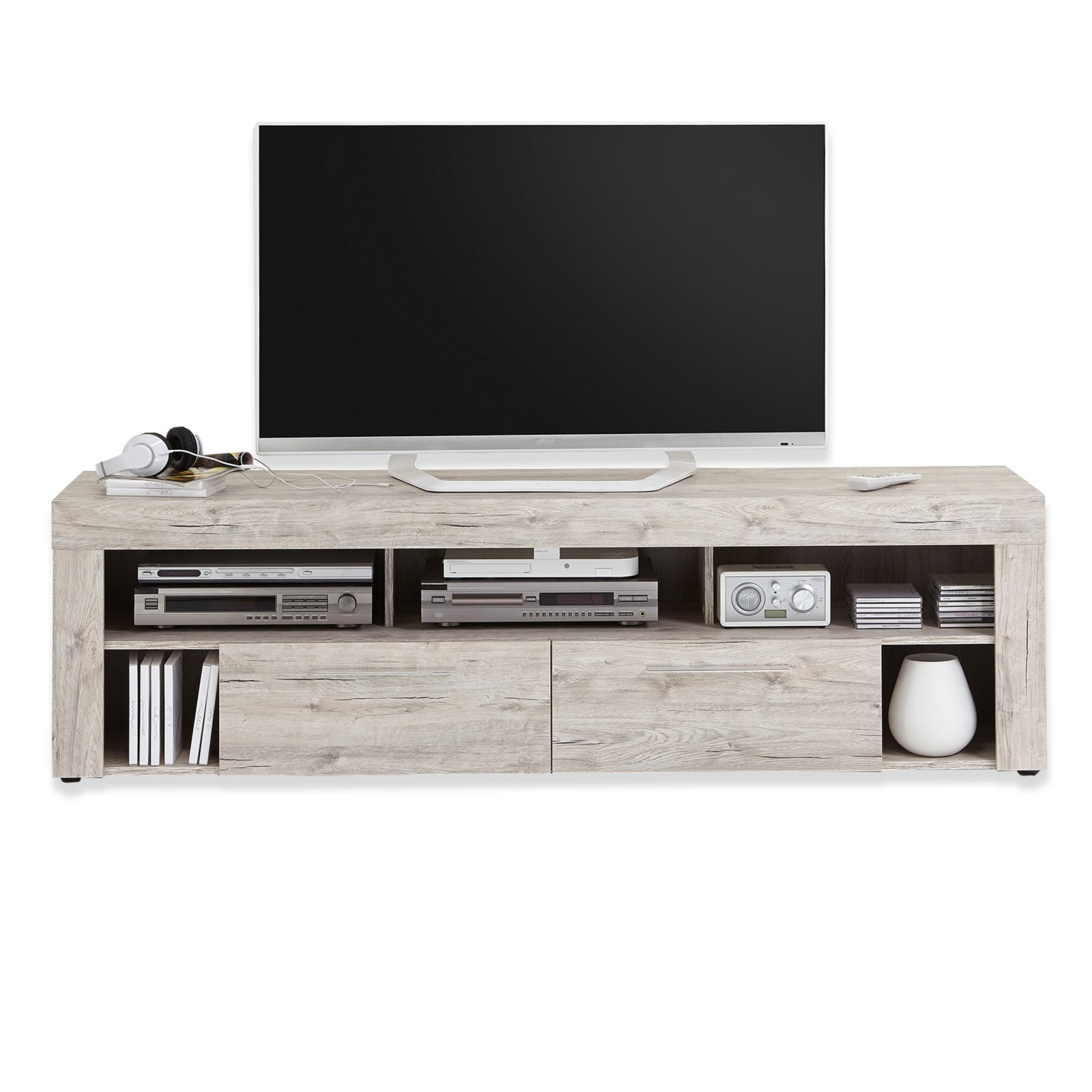 tv lowboard vibio sandeiche 180 cm ebay. Black Bedroom Furniture Sets. Home Design Ideas