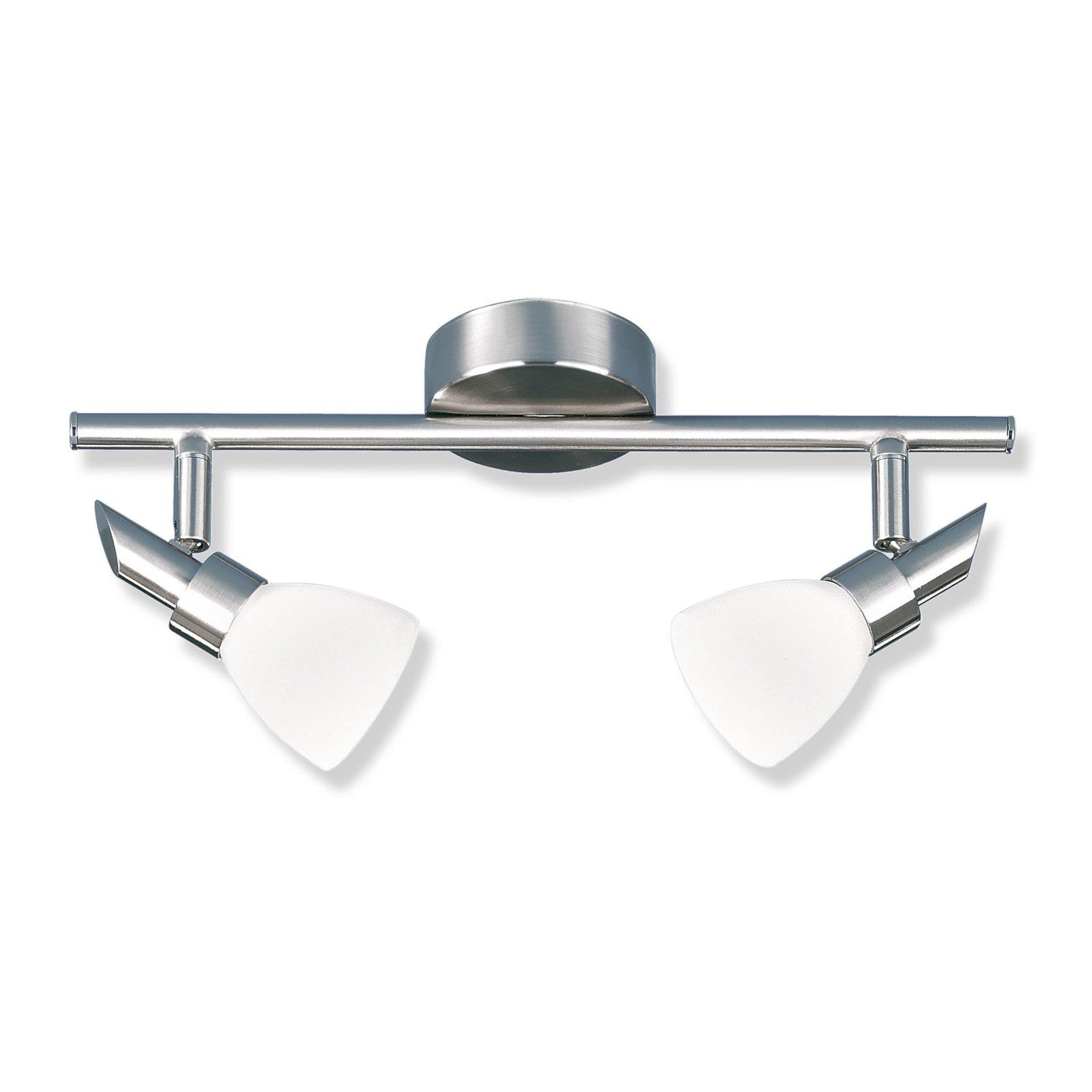 Deckenstrahler pep 2 metall nickel glas wei for Lampen roller