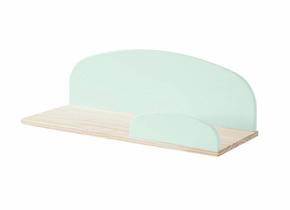 wandregal kiddy mintgr n 60 cm breit regale f rs kinderzimmer regale m bel roller. Black Bedroom Furniture Sets. Home Design Ideas